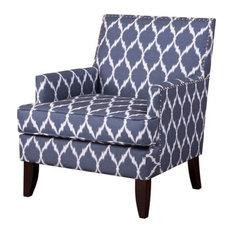 Madison Park Colton Track Arm Club Chair, Blue/White