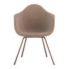 Mid Century Classroom Arm Chair, Light Sand