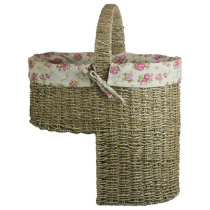 Seagrass Cotton Lined Stair Basket