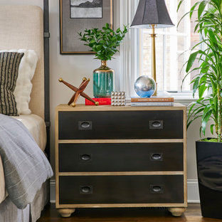 Inspiration for a transitional bedroom remodel in Chicago