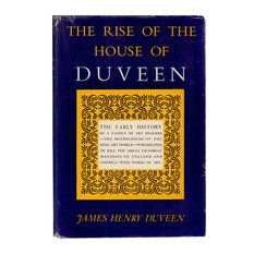 Decorative Book The Rise of The House of Duveen