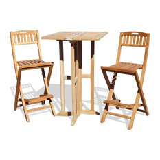 """Grade A Teak 27"""" Folding Counter Table/ Chairs,( Counter Hgt 5"""" Lower then Bar)"""