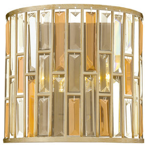 Gemma Contemporary Wall Light, Silver Leaf