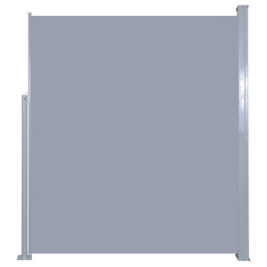 Patio Retractable Side Awning, Grey, 180x300 cm