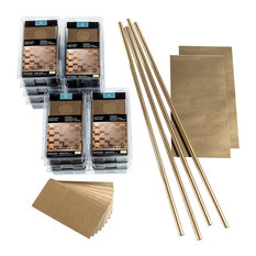 Aspect 3in x 6in Brushed Short Grain Metal 15 sq. ft. Kit, Champagne