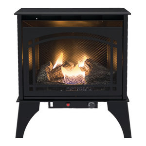 Kozy World Dual Fuel Gas Stove, Steel, Black