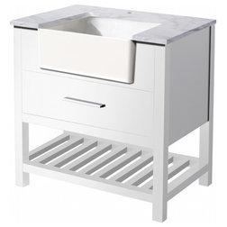 Best Contemporary Bathroom Vanities And Sink Consoles Stufurhome Nightingale Farmhouse Apron Single Sink Bathroom Vanity White