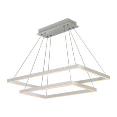 Atria Duo LED Adjustable 2-Tier Chandelier, White