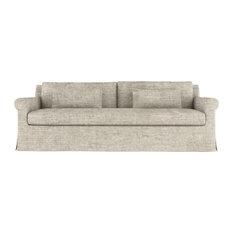Ludlow 8' Crushed Velvet Sofa Oyster Extra Deep