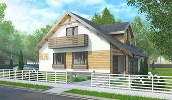 Проект двухэтажного четырёхкомнатного жилого дома мансардного типа