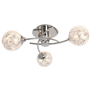 Koko 3-Light Ceiling Light, Polished Chrome