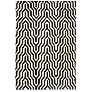 Classic Collection Optical Patterned Rug, Black, 230x170 cm