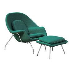 Modern Classics Woom Chair And Ottoman Green