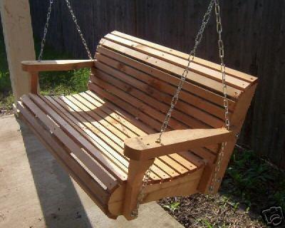 Contoured Cedar Classic Swing   Patio Furniture And Outdoor Furniture