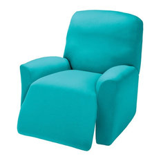 Madison Industries   Jersey Stretch Slipcover, Aqua, Recliner   Slipcovers  And Chair Covers