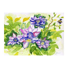 Betsy Drake Clematis 30 X 50 Inch Floral Comfort Floor Mat