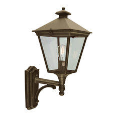 Turin Up Wall Lantern, Black and Gold