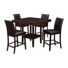 """Dining Table - 42""""X 42"""" Cappuccino Counter Height"""