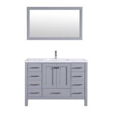 "Aberdeen 42"" Transitional Gray Bathroom Vanity"