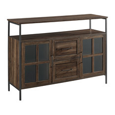 48-inch Industrial 3-Door Buffet Dark Walnut