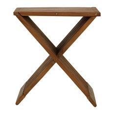 Rocco Folding Stool, Solid Teak Wood