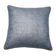 Metallic Linen Pillow Cover, Navy