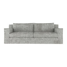 Mulberry 8' Crushed Velvet Sofa Silver Streak Classic Depth