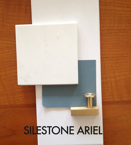 ... Attaching Pics Of My Ariel Sample With My Cabinet Paint Color  (blue Gray), Backsplash Tile (white Subway) And Cabinet Pull Sample, As  Well As One Of ...
