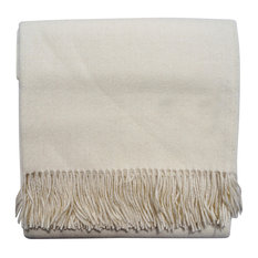 Baby Alpaca Throw Blankets, Solid Color All Natural, White