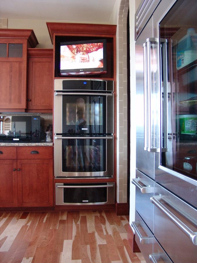 Contemporary Kitchen Television Installation