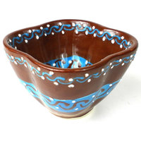 Dip Bowl, Chocolate Mexican Pottery