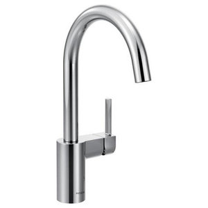 Moen Align Chrome 1-Handle High Arc Pulldown Kitchen Faucet ...