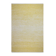 Fab Habitat Indoor Flatweave Cotton Rug, Aurora, Gold, 8'x10'