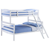 [S]Sesame Twin / Full Bunk Bed - by Night and Day Furniture Online - White