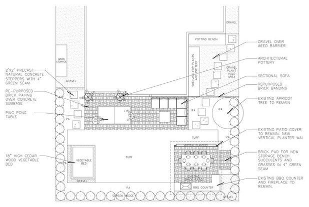 Site And Landscape Plan Beach Contemporary Backyard