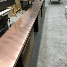Metal benchtops