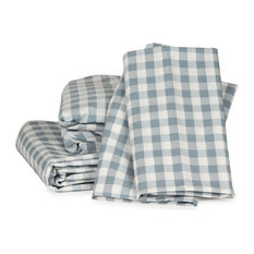 Gingham Plaid Sheet Set, Charcoal, Queen