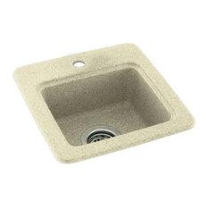 Swan 15x15x6 Solid Surface Drop Bar Sink, 1-Hole, Bone