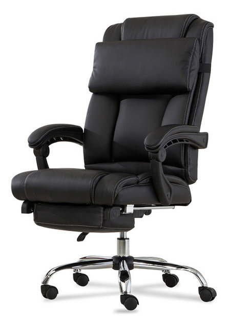 Executive Reclining High Back Leather Office Chair Contemporary