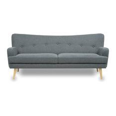 Drawer - Canapé design scandinave 3 places Arcus Couleur Gris - Canapé