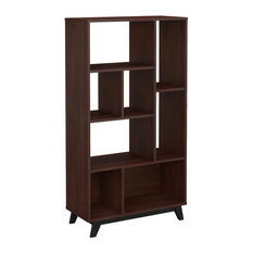 Office By Kathy Ireland Centura 8 Shelf Bookcase, Century Walnut