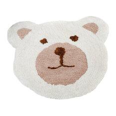 Nursery Teddy Bear Rug, Natural, 75x80 cm