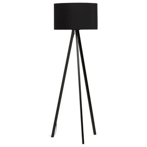Brooklyn Scandinavian Floor Lamp, Black