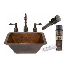Copper Drop-in/Undermount Sink w/ORB Faucet