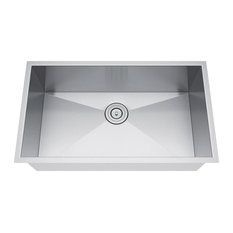 "30""x19"" Single Bowl Undermount Stainless Steel Kitchen Sink, With Strainer"