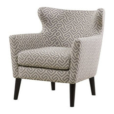 Madison Park Concetta Concave Club Chair, Gray
