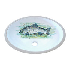 Big Fish Hand Painted Sink