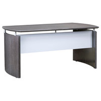 "Mayline Napoli 72"" Desk In Charcoal And Gray Finish ND72CGR"