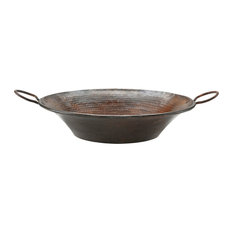 Round Miners Pan Vessel Hammered Copper Sink