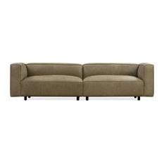Soho  Leather Sofa Olive Full Grain Aniline